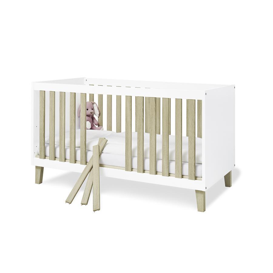 Pinolino Lit enfant à barreaux bois Lumi 70x140 cm