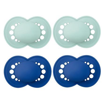 MAM Sucette Original Elements Latex, dès 16 mois, 4 pièces en menthe/bleu