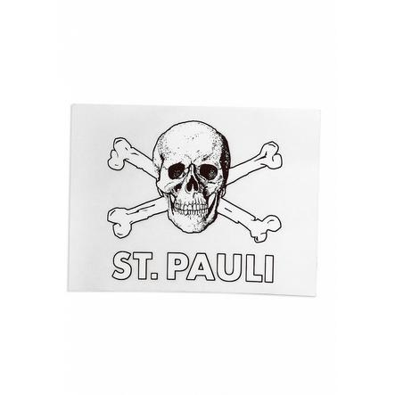 St. Pauli Aufkleber Totenkopf Transparent
