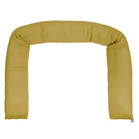odenwälder Tour de lit traversin enfant mousseline mustard 180 cm