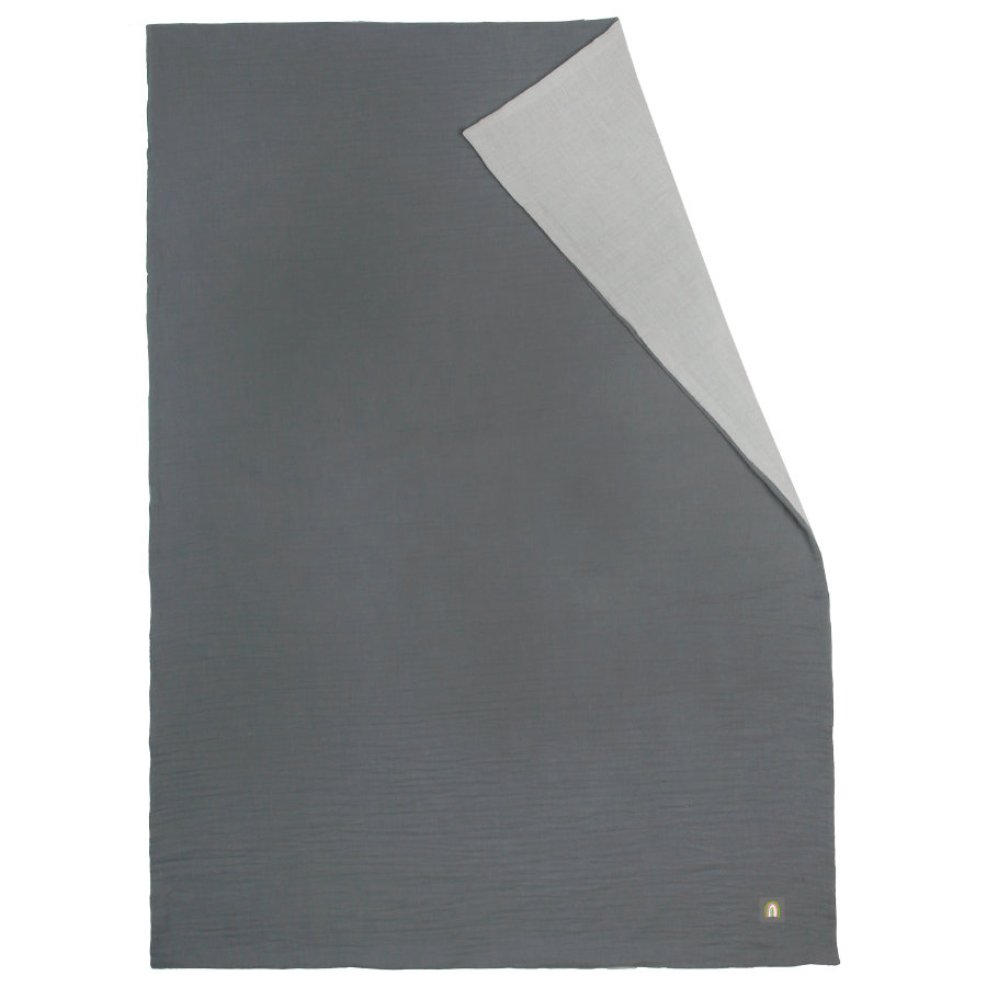 odenwälder Muslin sommerkæletæppe grå 70 x 100 cm