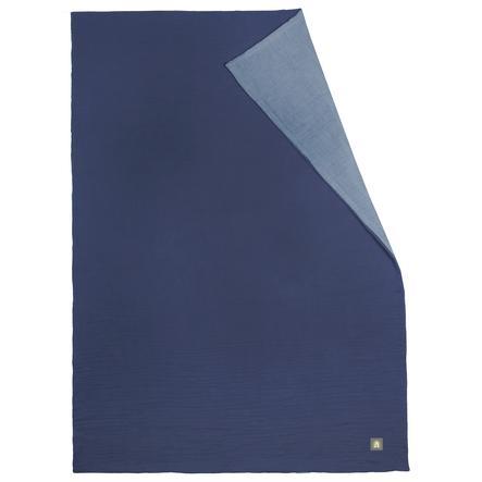 odenwälder Couverture d'été en mousseline space bleu 70 x 100 cm