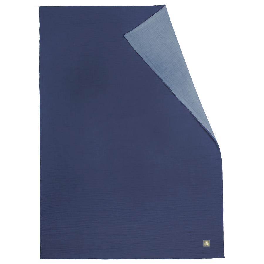 odenwälder Muslin Zomerdeken space blauw 70 x 100 cm