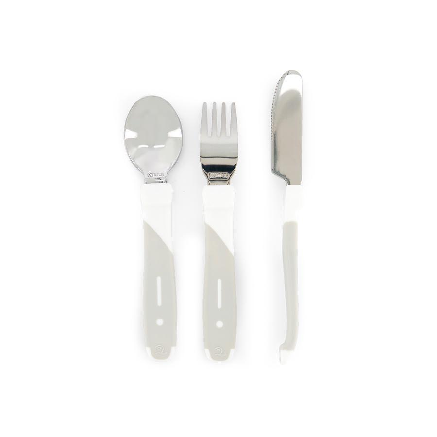 TWISTSHAKE Esslern-Besteck aus Edelstahl in weiß