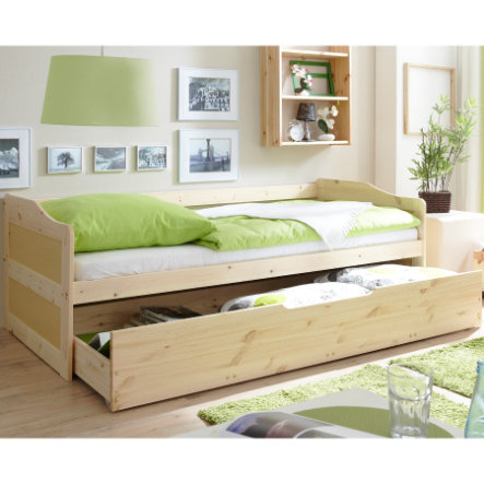 TICAA Couch Bed MARINA with drawer, nature