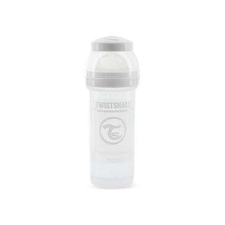 TWIST SHAKE  Biberon anti-colique 260 ml en blanc
