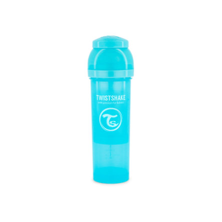 TWIST SHAKE  Biberon anti coliche 330 ml in blu pastello