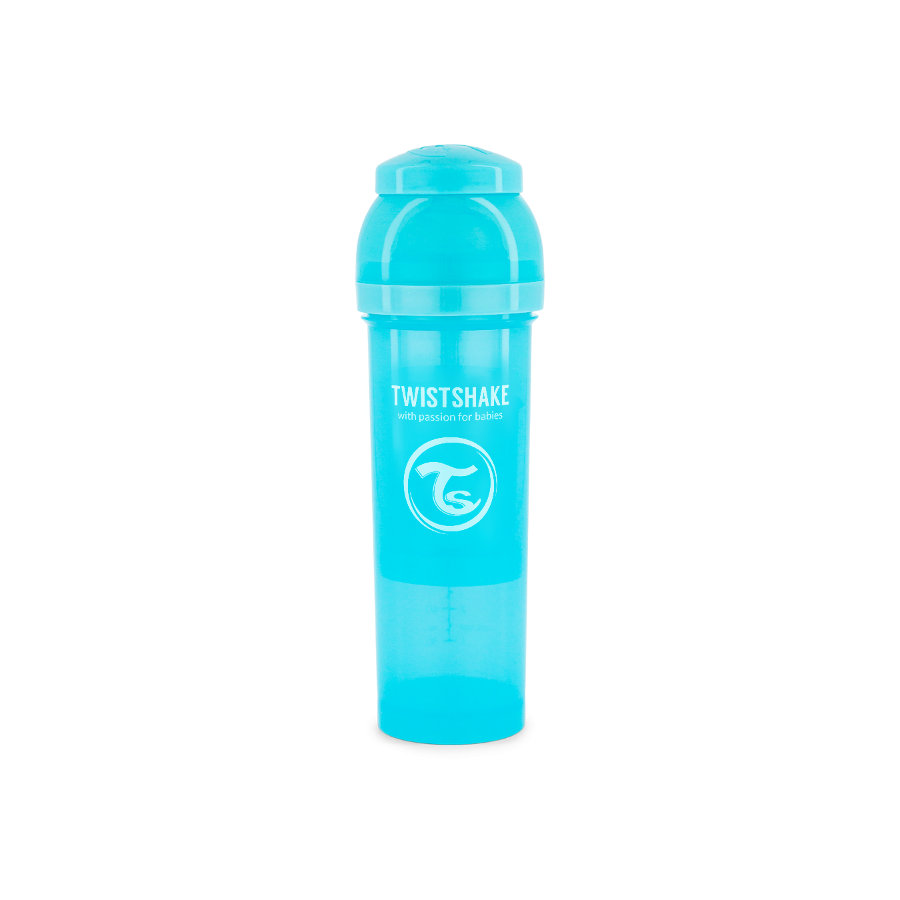 TWIST SHAKE  Babyfles anti-koliek 330 ml in pastelblauw