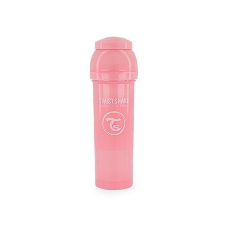 TWIST SHAKE  Babyfles anti-koliek 330 ml in pastelroze