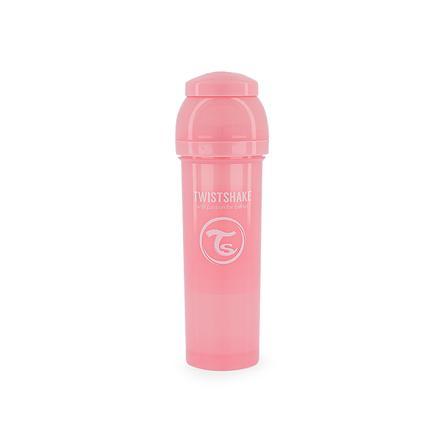 TWIST SHAKE  Biberon anti coliche 330 ml in rosa pastello
