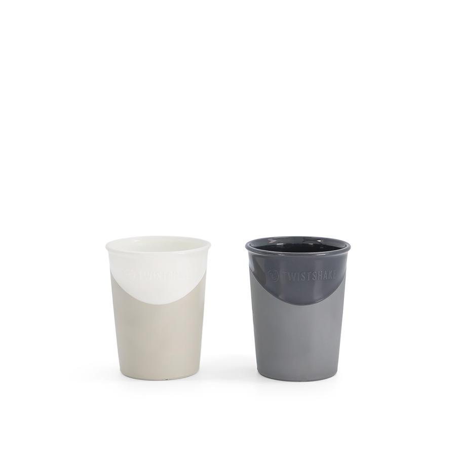 TWISTSHAKE 2 x 170 ml ab dem 6. Monate in pastell schwarz / weiß