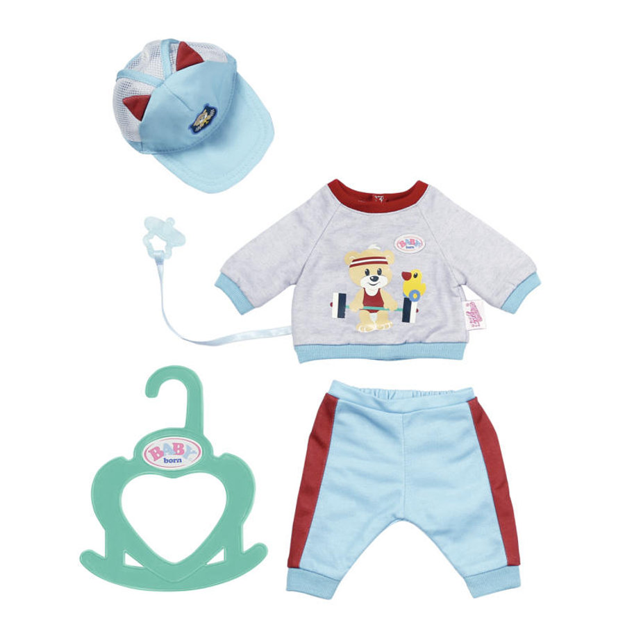Zapf Creation  BABY born® Little Sport-asu 36 cm, sininen.
