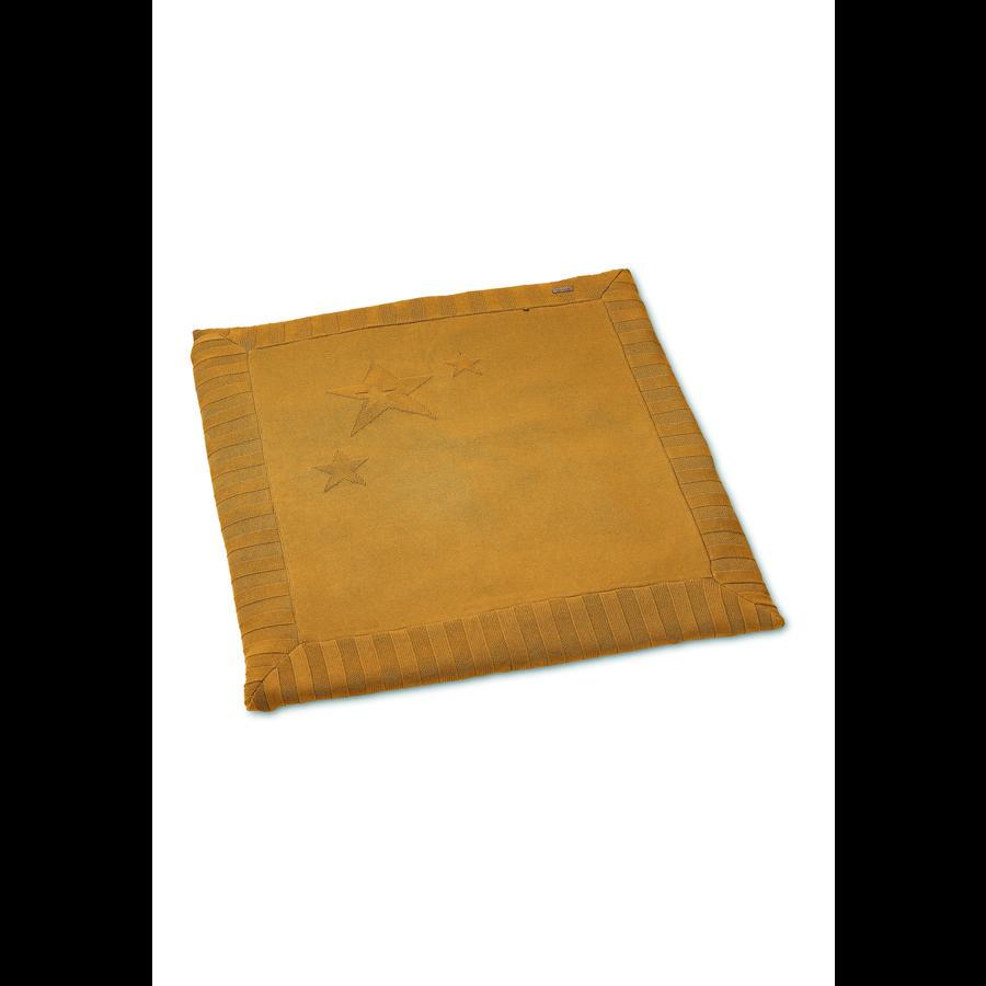 Sterntaler gebreide kruipdeken medium geel 100 x 100 cm