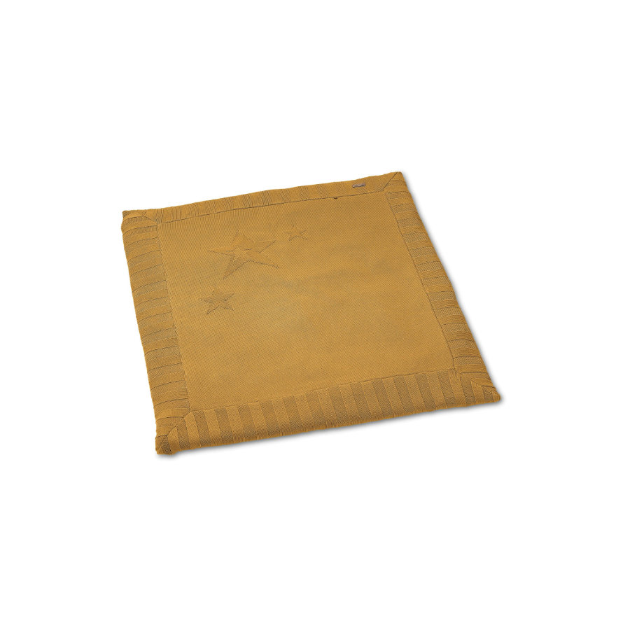 Sterntaler manta de punto para gatear amarilla mediana 100 x 100 cm