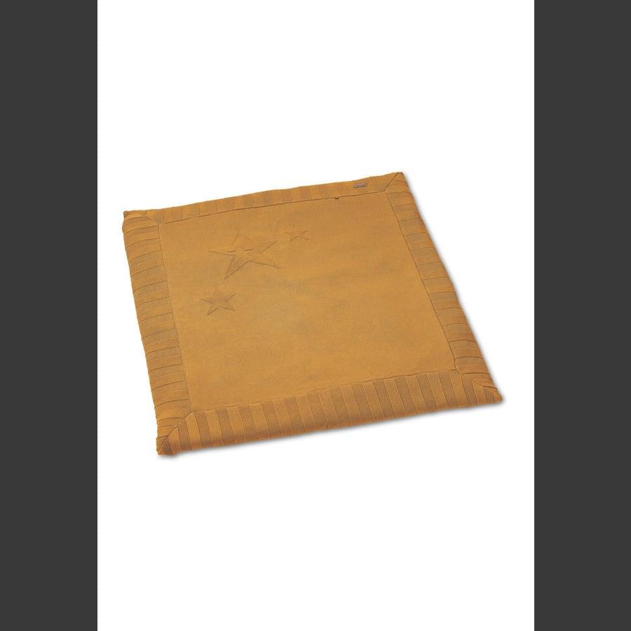 Sterntaler strikket kravletæppe medium gul 100 x 100 cm