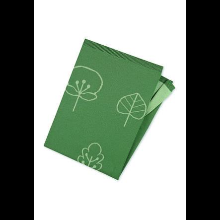 Sterntaler Plaid enfant mailles bio vert foncé 100x75 cm