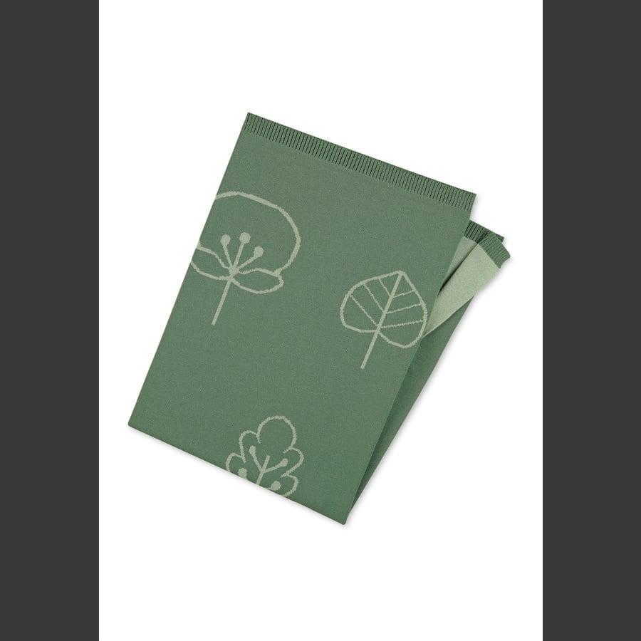 Sterntaler Strick-Schmusedecke dunkelgrün 100 x 75 cm