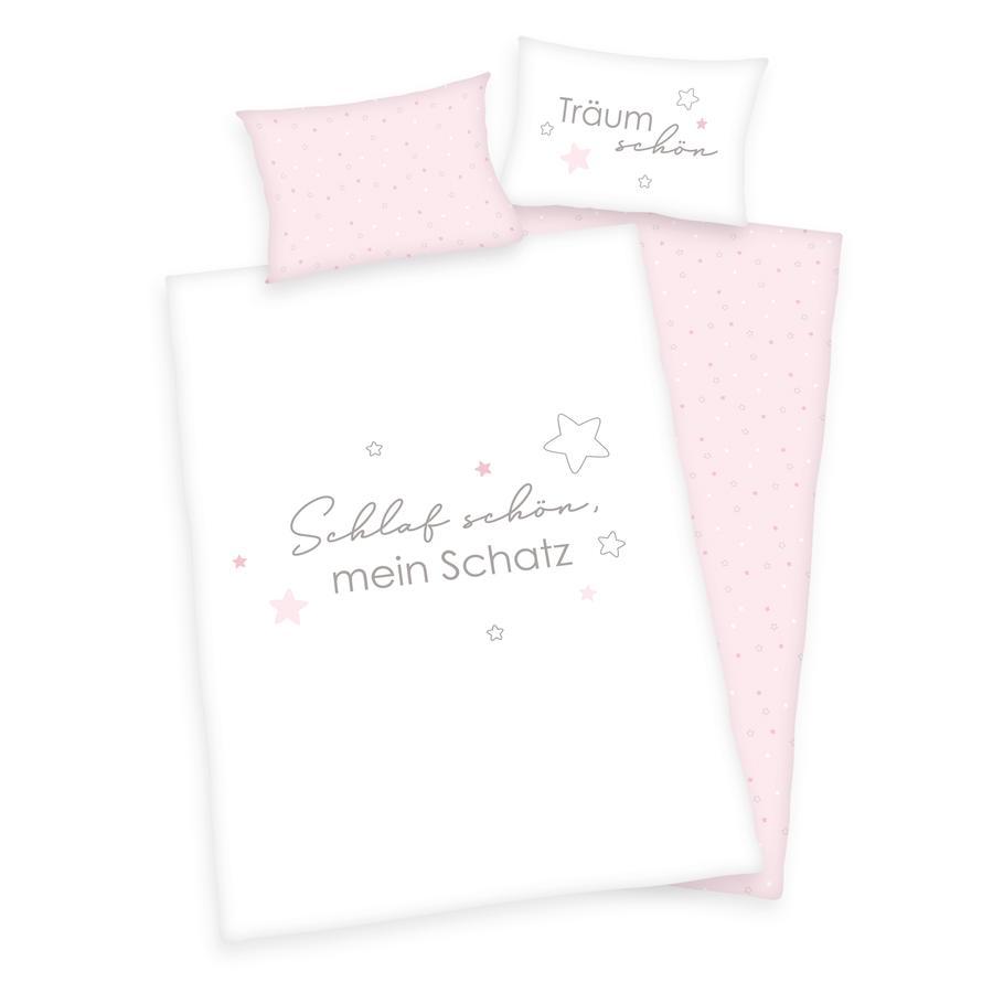 babybest® Bettwäsche Schlaf schön GOTS rosé 100 x 135 cm
