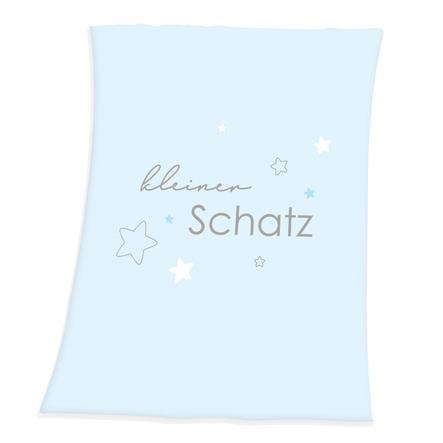 babybest® Fleecová deka z mikrovlákna Little Treasure světle modrá