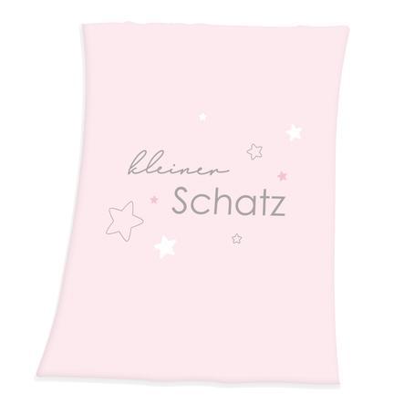 babybest® Microfibre fluffig filt Little Treasure pink