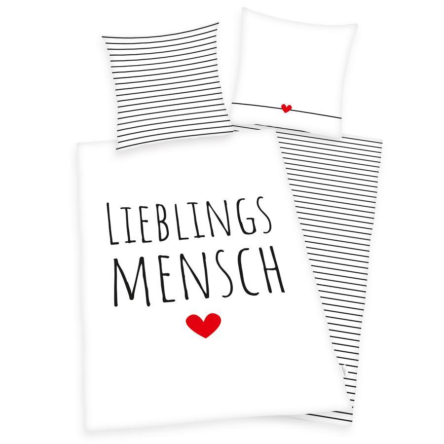 HERDING HOME Bettwäsche Lieblingsmensch 135 x 200 cm
