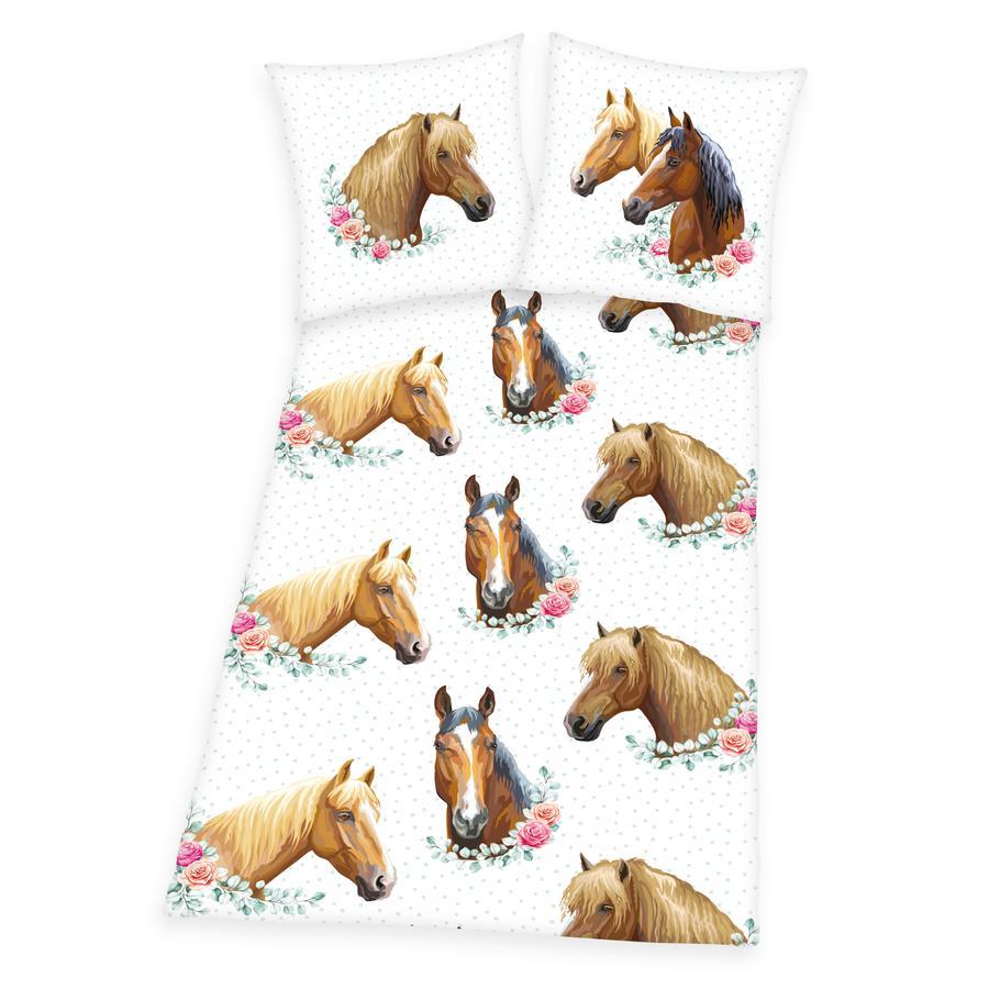 HERDING Bettwäsche Pferde 135 x 200 cm
