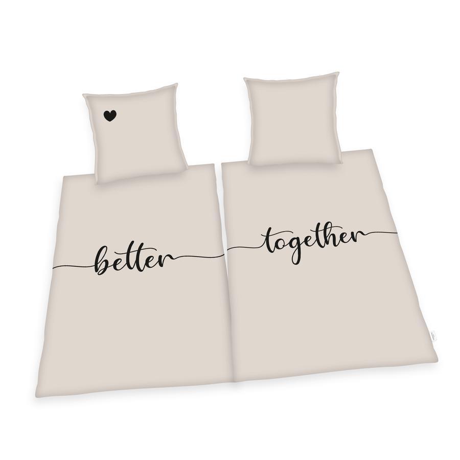 HERDING HOME Partner biancheria da letto Better together 135 x 200 cm