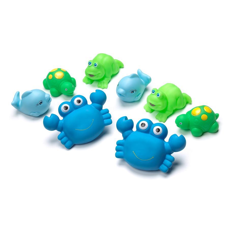 playgro Jouet de bain animaux cracheurs bleu 8 pièces