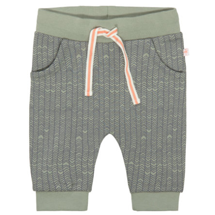 STACCATO Hose soft olive gemustert