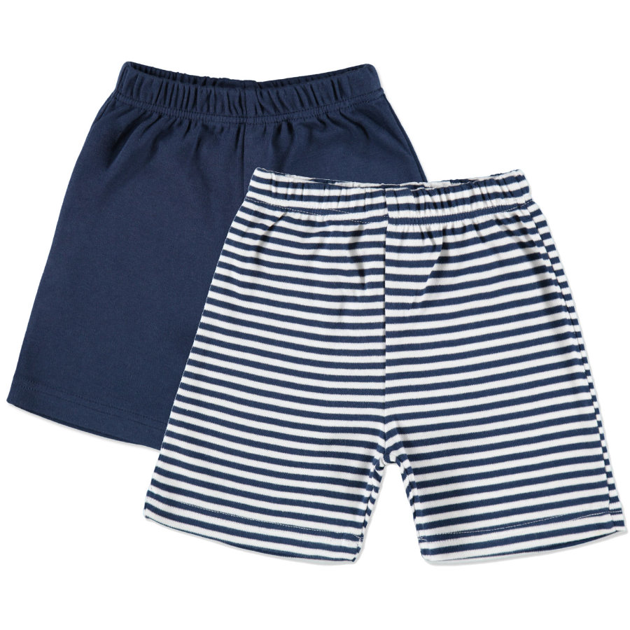 pink or blue Boys Maritim Hose 2er Pack gestreift blau, weiß