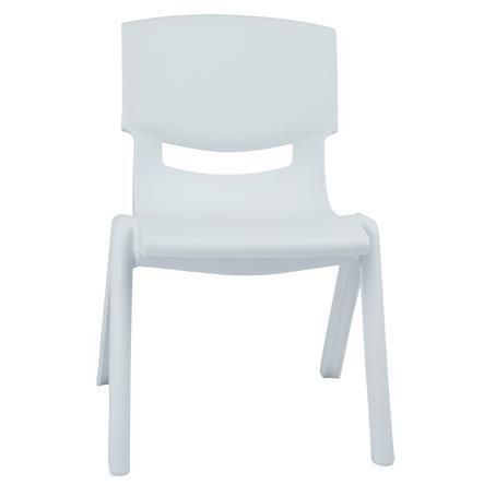 bieco Kinderstuhl weiß aus Kunststoff