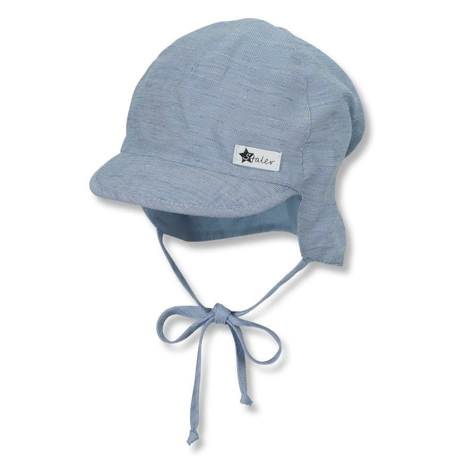 Sterntaler Schirmmütze mit Nackenschutz hellblau