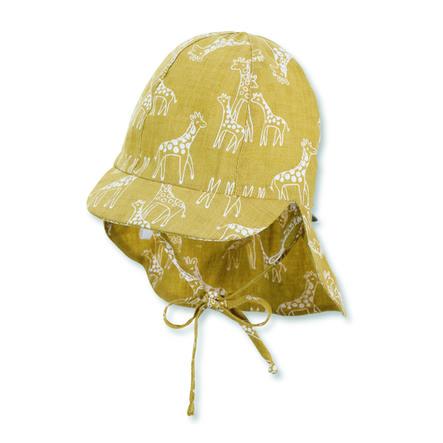 Sterntaler Casquette à visière avec protection du cou jaune