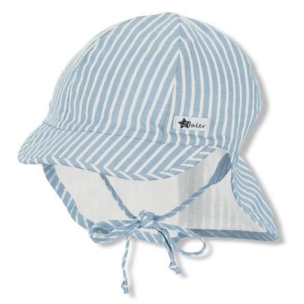 Sterntaler Bio-Schirmmütze mit Nackenschutz hellblau