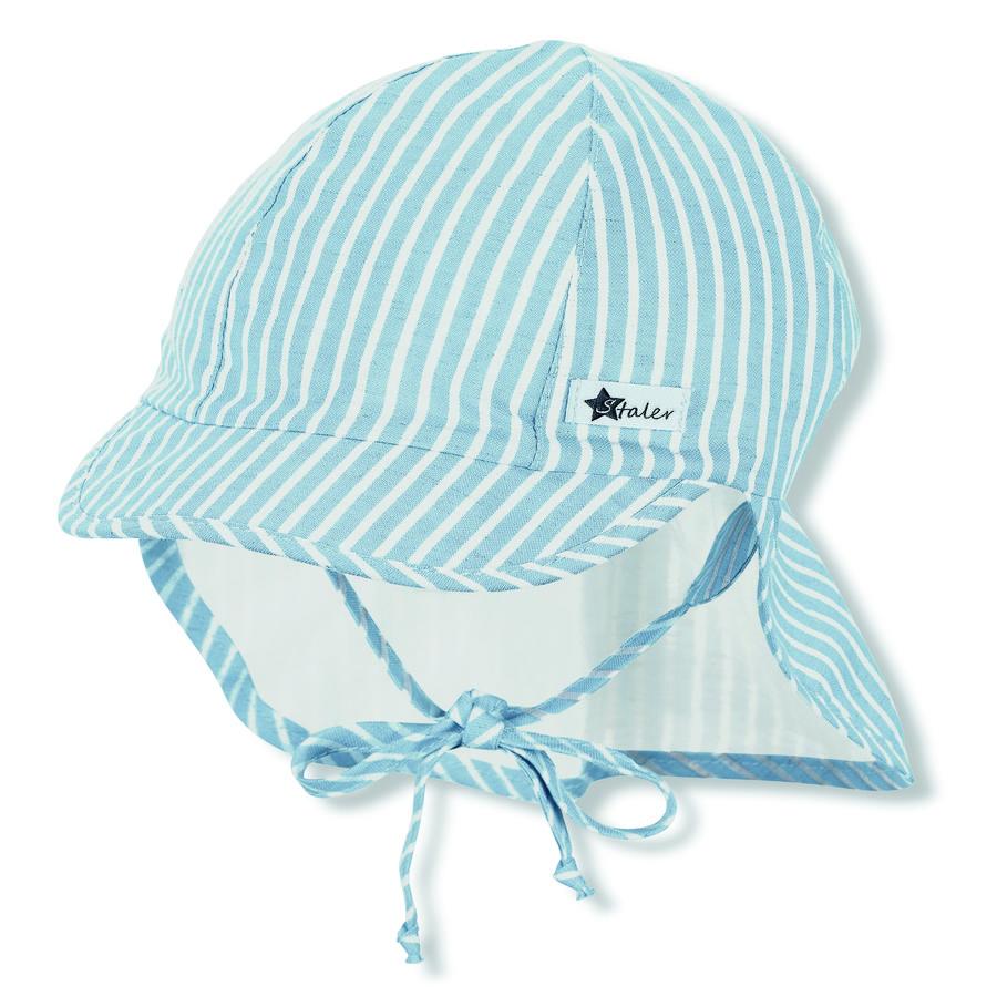 Sterntaler Ekologiczna czapka z daszkiem i ochroną karku żółta