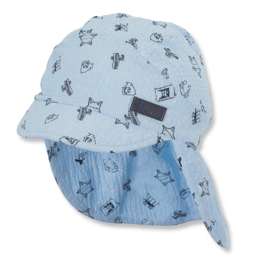 Sterntaler Casquette enfant couvrante à bords larges bleu clair