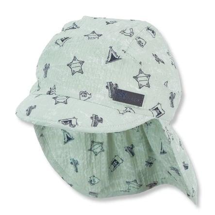 Sterntaler Schirmmütze mit Nackenschutz helltürkis