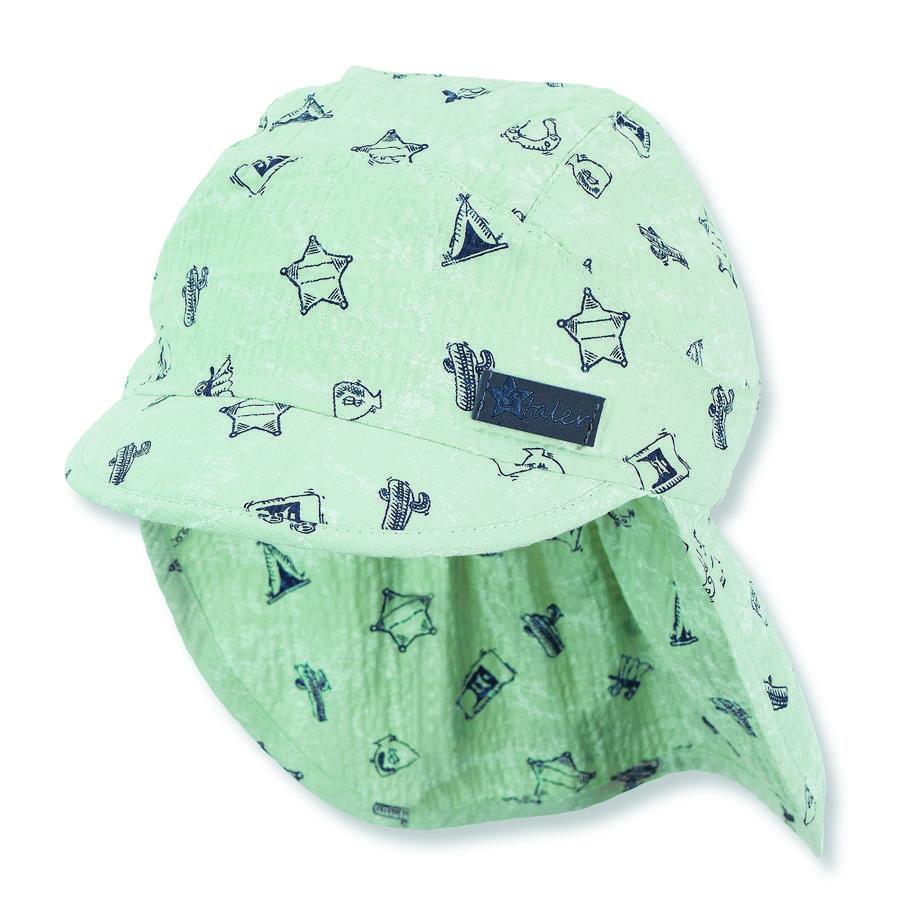 Sterntaler Peaked cap met nekbescherming licht turkoois