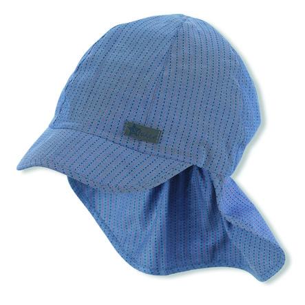 Sterntaler Gorra de pico con protección para el cuello azul
