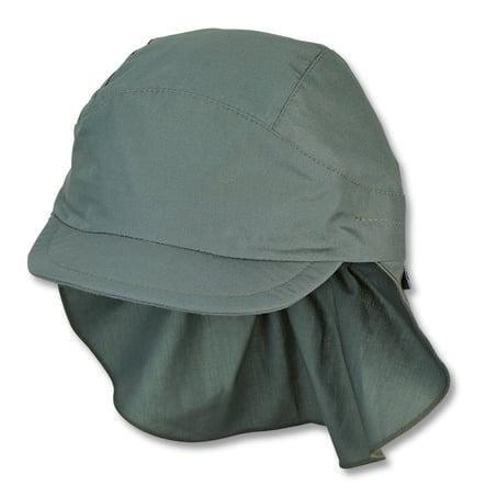 Sterntale Schirmmütze mit Nackenschutz dunkelgrün