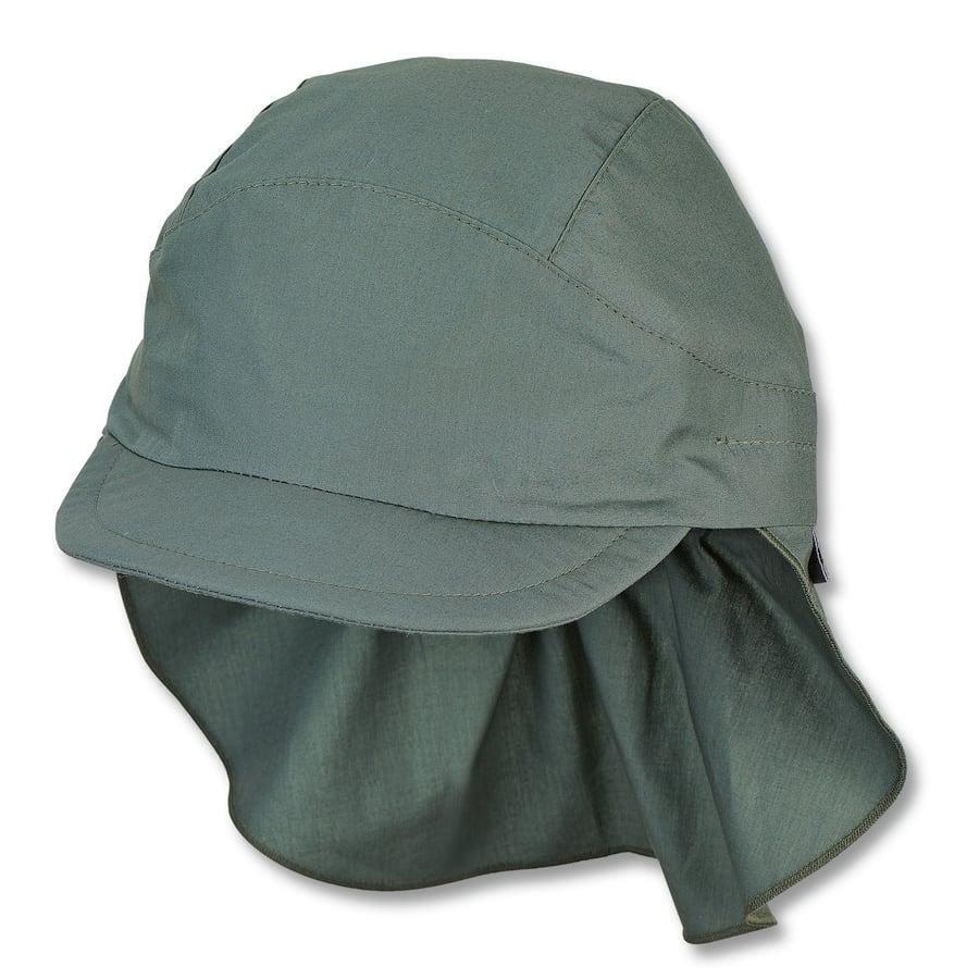 Sterntale cap met nekbescherming donkergroen