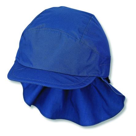 Casquette à visière Sterntale avec protège-cou bleu
