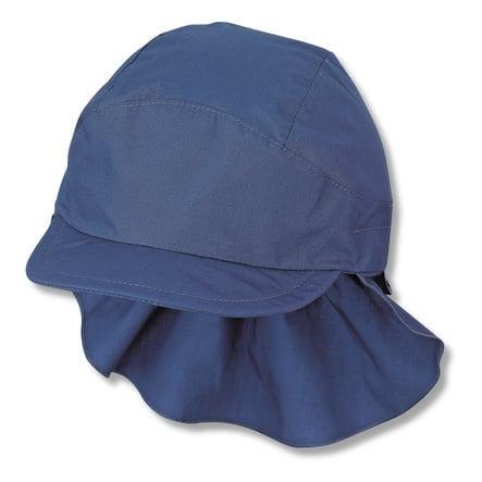 Sterntale czapka z daszkiem z ochroną szyi niebieska