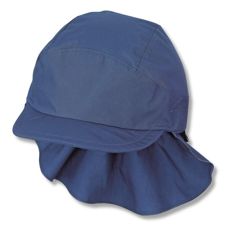 Sterntale cap met nekbescherming blauw