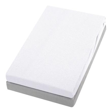 Alvi® Spannbettlaken Doppelpack weiß/silber 40 x 90 cm