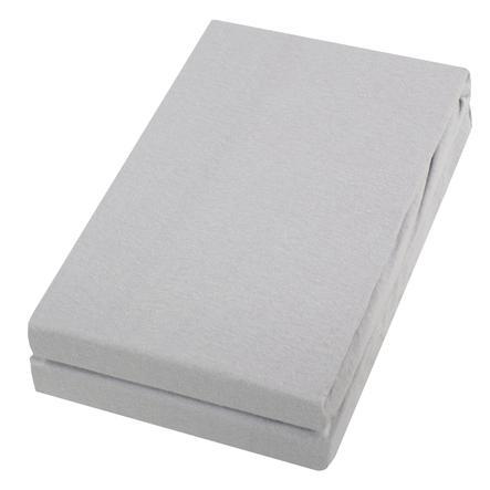 Alvi ® prześcieradło dwupak srebrny/srebrny 40 x 90 cm