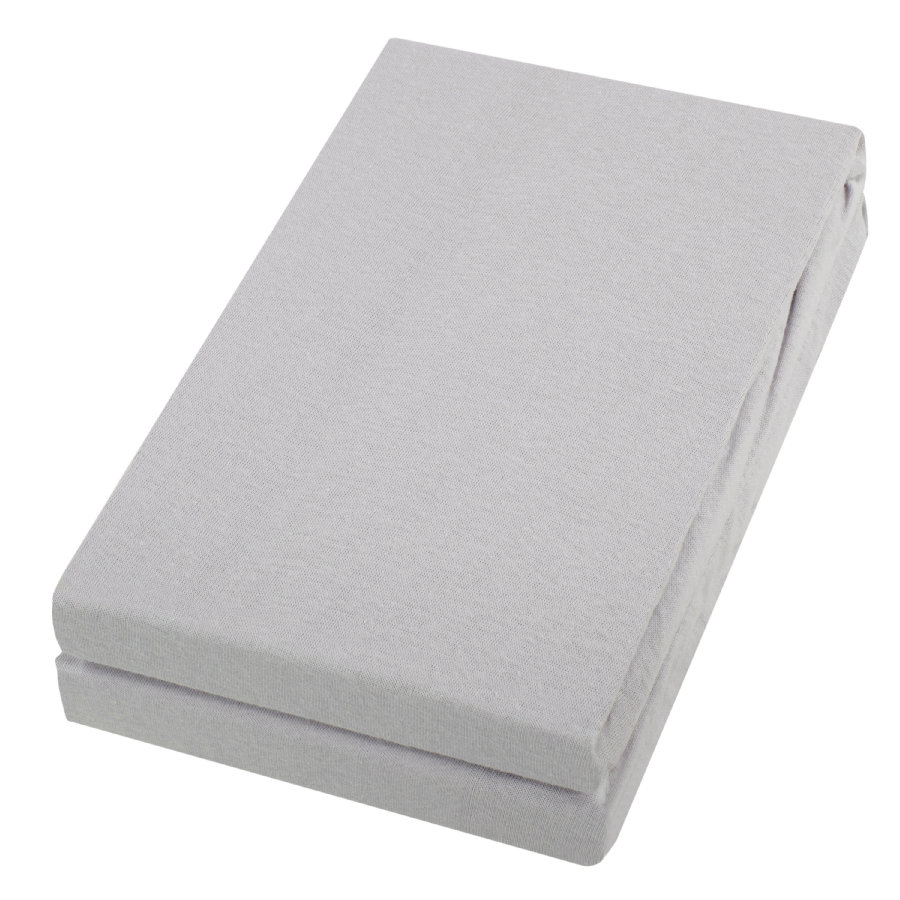 Alvi ® sábana bajera paquete doble plata/plata 40 x 90 cm