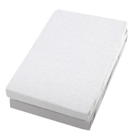 Alvi® Spannbettlaken Doppelpack weiß/silber 70 x 140 cm