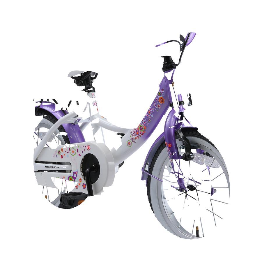 """bikestar Kinderfahrrad 14"""" Classic Lila & Weiß"""