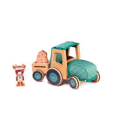 Lilliputiens ROSALIE Traktor aus Holz und Neopren